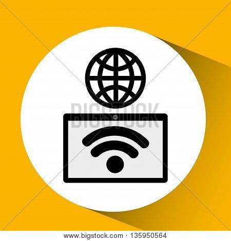 wifi connection design, vector illustration eps10 graphic