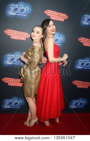 LOS ANGELES - JUN 23:  Sabrina Carpenter, Sofia Carson at the 100th DCOM Adventures In Babysitting LA Premiere Screening at the Directors Guild of America on June 23, 2016 in Los Angeles, CA