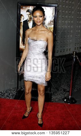 Thandie Newton at the Los Angeles premiere of 'RockNRolla' held at the ArcLight Theater in Los Angeles, USA on October 6, 2008.