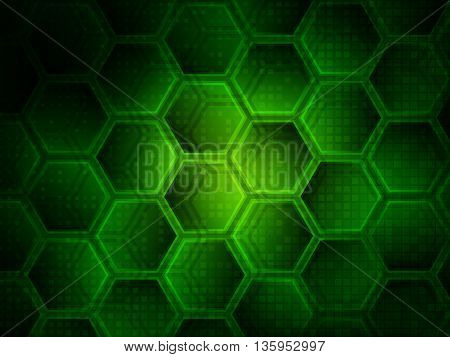 Background with hexagons, Hi-tech digital technology concept, Abstract background