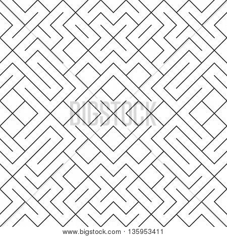 Vector seamless pattern background. Modern stylish repeating geometric texture with rhombus and nodes tile pattern.