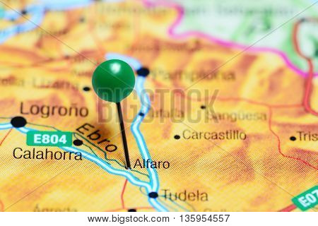 Alfaro pinned on a map of Spain