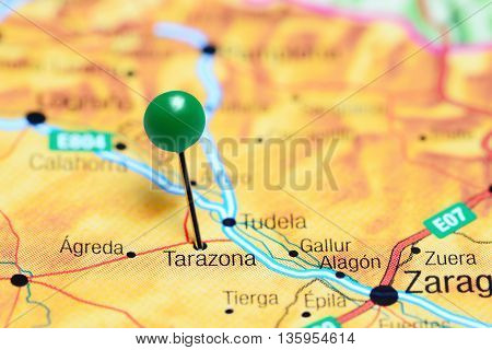 Tarazona pinned on a map of Spain