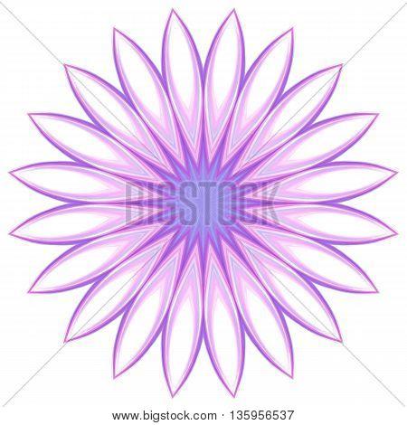 Vector illustration of decorative floral design element geometric shapes