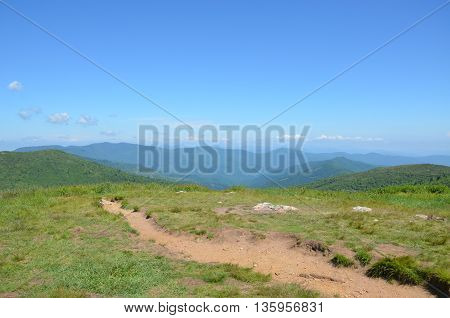 View along the Art Loeb trail in North Carolina. This is near Black Balsam knob.