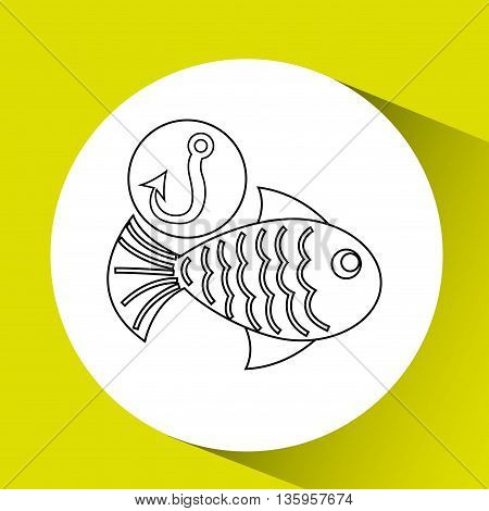 fishing concept design, vector illustration eps10 graphic