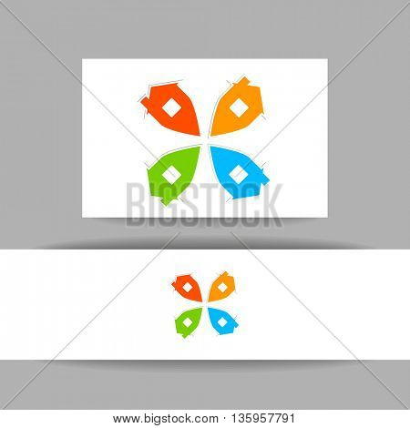 Real estate logo template. Concept identity presentation design for real estate agent, property, home point and etc. Vector graphic illustration.