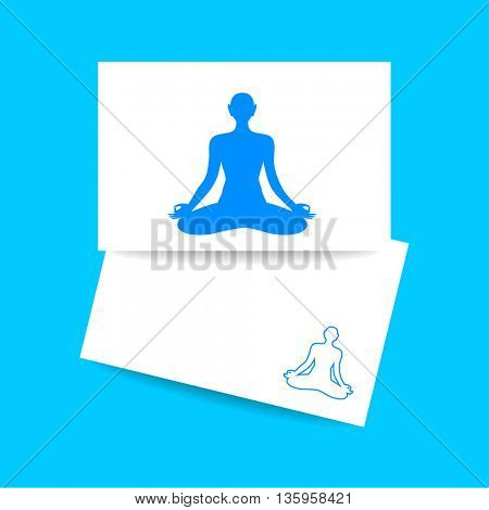 Yoga, Health Care, Beauty, Spa, Relax, Meditation, Nirvana concept symbol. Vector graphic illustration.