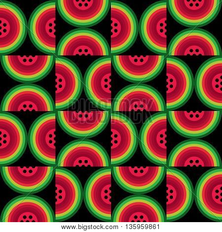 Modern icon abstract watermelon background. Vector background for summer party, card, watermelon poster, greeting, invitation cards.