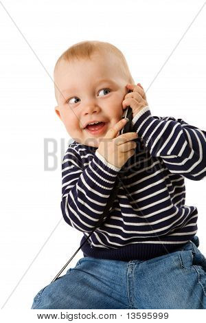 Boy Talking On Phone