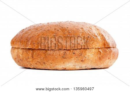 Burger bun isolated on white background with clipping path