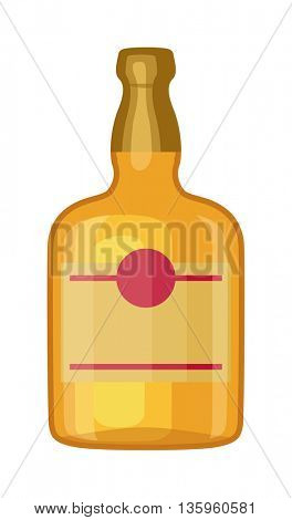 Whiskey bottle vector illustration.
