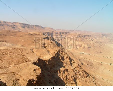 Negev Desert View From Masada