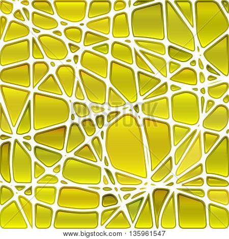 abstract vector stained-glass mosaic background - light yellow