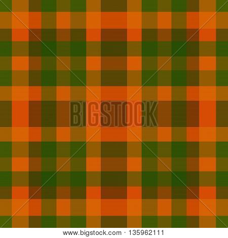abstract vector tartan seamless - green and orange