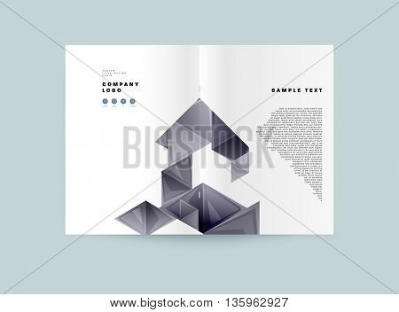 Abstract Background. Geometric Shapes and Frames for Presentation