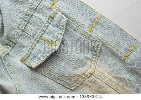 Jeans denim jacket pocket texture background .