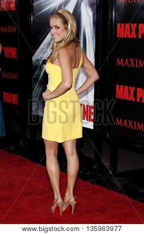 Kristin Cavallari at the Los Angeles premiere of 'Max Payne' held at the Grauman's Chinese Theater in Los Angeles, USA on October 13, 2008.