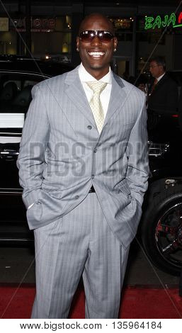 Tyrese Gibson at the Los Angeles premiere of 'Max Payne' held at the Grauman's Chinese Theater in Los Angeles, USA on October 13, 2008.