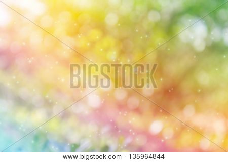 Rainbow Colour Sparkle Bokeh Fancy Background