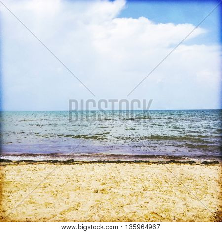 Sky sea and beach - Mediterranean nature.