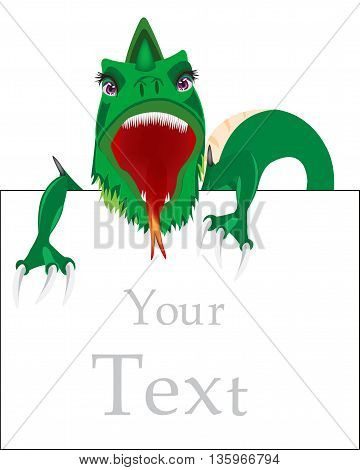 Dragon with a sign for your text