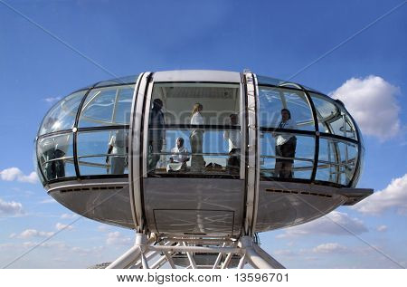 photgraph of one of the london eye capsules