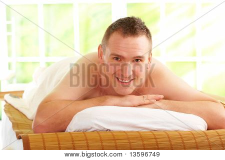 Man Resting In Spa Salon