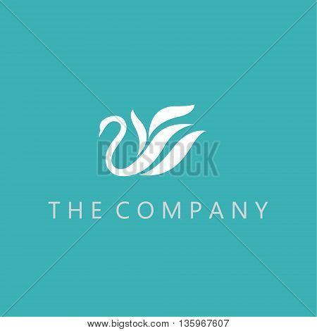 swans logo ideas design vector on background
