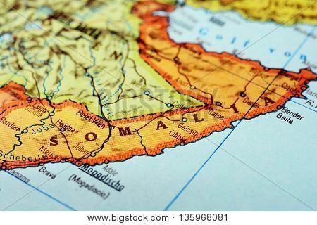Africa Map Somalia Mogadishu