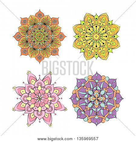 Colorful round mandala ornament