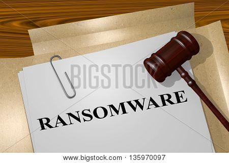 Ransomware Legal Concept