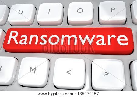 Ransomware - Hacking Concept