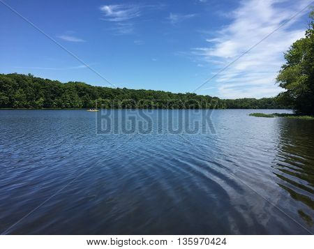 A summer day at Burke Lake, Northern Virginia. Photo taken in June, 2016.