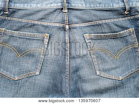 the pockets on jeans as a background