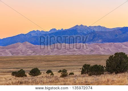 Great Sand Dunes National Park in Colorado State, USA