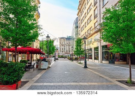 Budapest, Hungary-may 04, 2016: Beautiful Landscape And Urban View Of The Budapest, One Of  Beautifu