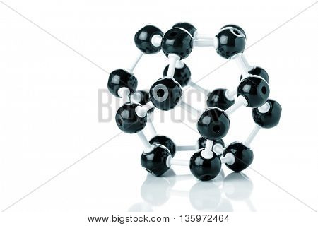 molecule model. Science concept. Blue colored image