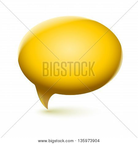 Glossy speech bubble icon. Vector editable symbol, easy to change size