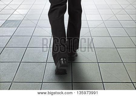 Walking Toward Exit