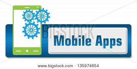 Mobile apps  concept image with text and related symbol.