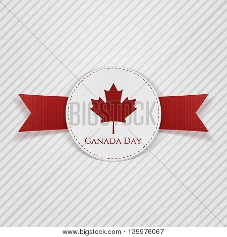 Canada Day greeting red Tag. Vector Illustration