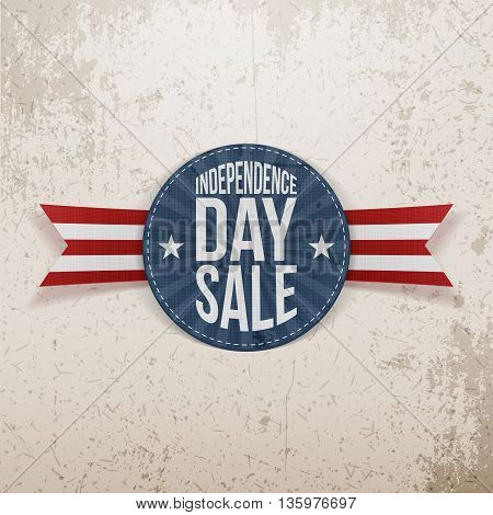 Independence Day Sale circle Emblem. Vector Illustration