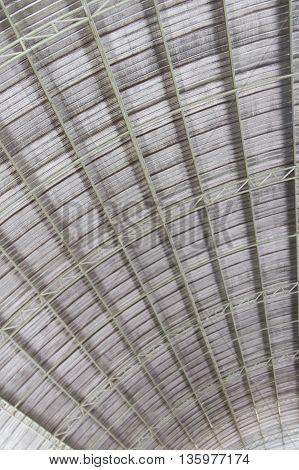 metal structure roof architecture abstract  background .