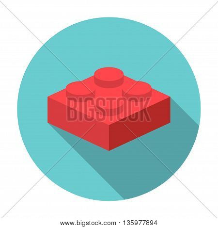 Vector flat constructor block icon on white background