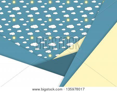 Unusual modern material design over seamless vector pattern. Eps10 vector illustration