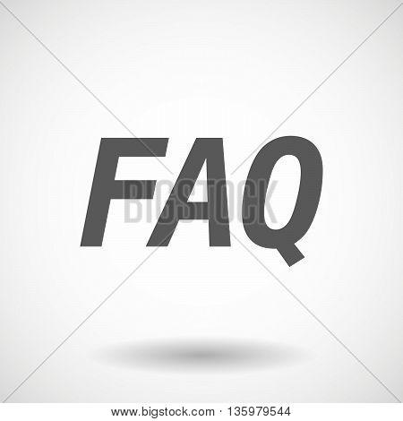 Illustration Of    The Text Faq