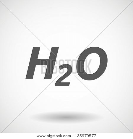 Illustration Of    The Text H2O