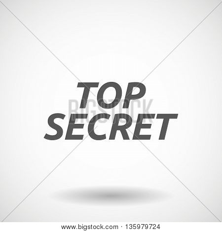 Illustration Of    The Text Top Secret