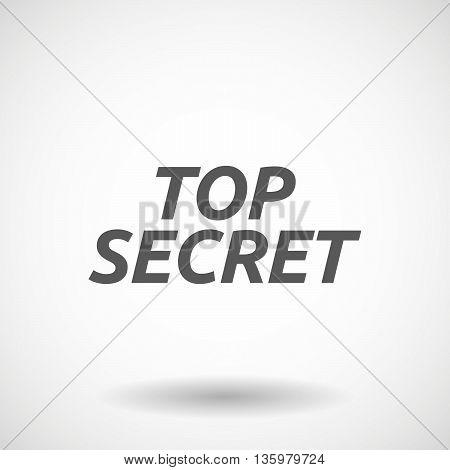Illustration Of    The Text Top Secret